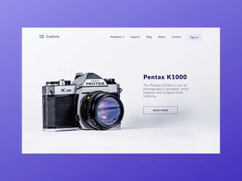 Daily UI 53 — Header Navigation product page product logo web desktop branding vector daily ui challenge ux design ui dailyui