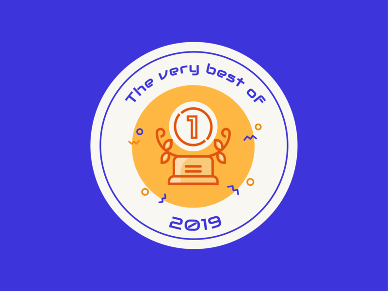 Daily UI 63 — Best of sticker badge colorful logo branding daily ui challenge design ui dailyui