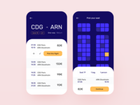 Daily UI 68 — Flight Search ux daily ui ui travel app travel seat reservation seat flight search flight booking flight design dailyuichallenge dailyui colorful branding app
