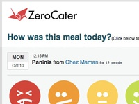 Zerocater Rating Email