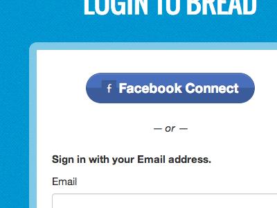 Login to Bread facebook button form login