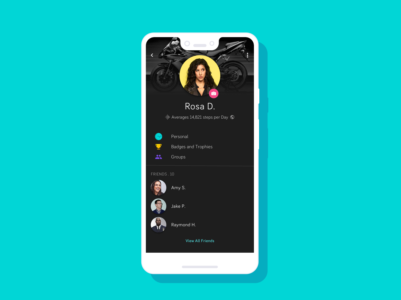 Fitbit Profile Dark UI Concept by Parnian Soroush on Dribbble