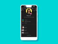 Fitbit Profile Dark UI Concept