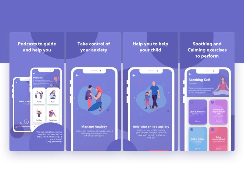 iOS App Store Art - Mental Health App
