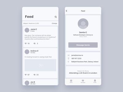 iOS App Wireframe