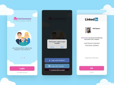 Social Login designs, themes, templates and downloadable
