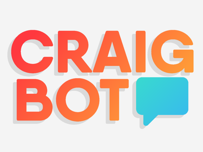 Craigbot - First Logo Iteration ui color drop shadow 2d simple logo gimp