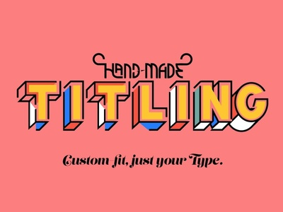 Hand-made Titling vector hand-made illustration type typemark titling lettering