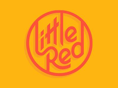 Little Red logomark typography type hand drawn mark branding logo
