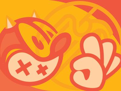 👹👌 business card ok spicy italian chef kiss gesture oni ogre demon vector illustration