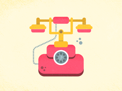 Telephone wire call ring phone old rotary telephone retro vector graphic vintage texture illustration grunge