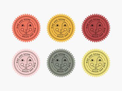 Rise and Shine design graphic vector retro illustration summer shine rise sun crest sticker icon