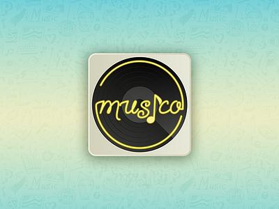 Daily UI App Icon 005 vinyl music icon music app ui design user icon app