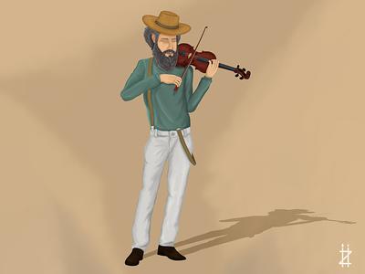 Old jewish violinist