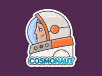 Cosmonaut Stikcer