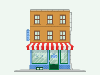 Baku Coffee Shop azerbaijan baku design illustration building coffee coffeeshop