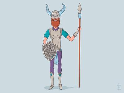 Brave Viking sweden norway iceland fighter warrior barbarian viking illustration character
