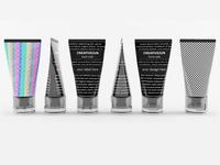 3D Black Cream Tubes with Cap Semi-Transparent