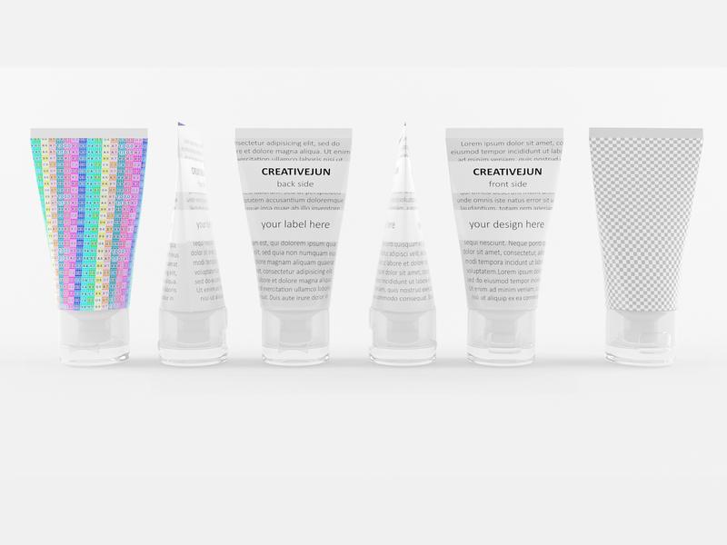 3D White Cream Tubes with Cap Semi-Transparent hair gel foam cream jar cream bottle cosmetics cleaning care beauty bathroom 3d tube tube 3d model illustration branding 3d product design 3ds max creative flat latest