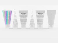 3D White Cream Tubes with Cap Semi-Transparent