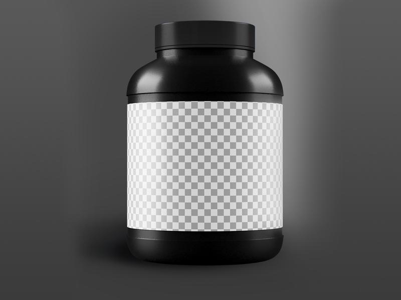 3D Muscle protein bottle with black cap high creatine canister bucket body building black bottle big jar bar 3d supplement bottle 3d box photoshop 3d model illustration 3dsmax branding 3d product design 3ds max dribbble creative latest