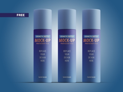 Free Cosmetic Bottle Mockup 3dsmax photoshop design branding 3d product design 3ds max flat dribbble creative latest