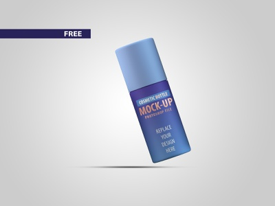 Free Small Cosmetic Bottle Mockup PSD files mockup psd mockups mockup freebie free design photoshop illustration 3d model branding 3d product design flat dribbble creative latest
