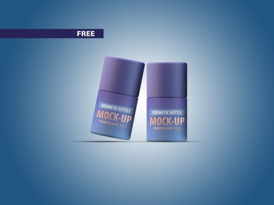 Free Small Cosmetic Bottle Mockup PSD files cosmetic packaging cosmetics product cosmetics mockups mockup freebie free 3d model illustration branding design 3d product design 3ds max flat dribbble creative latest