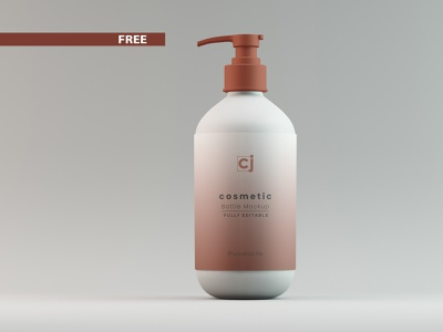 09_Free Cosmetic Bottle Mockup 3d render bottle bottle mockup giveaway 3d mockup mockup freebie free 3d design 3d model photoshop branding 3d product design 3ds max dribbble creative latest
