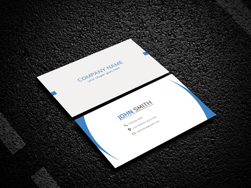 free corporate business card template by syeda junia dribbble