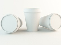 3D Paper Coffee cup design