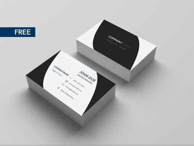 FREE Business card Template (05) photoshop dribbble latest flat creative blue and white freebie psd freebie freebee free business card free