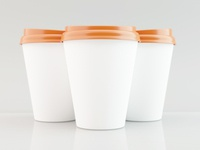 3D Paper coffe cup