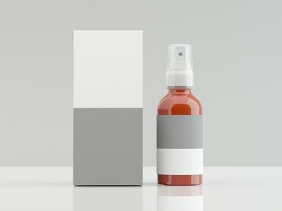 Cleanser Bottle with Box 3ds 3d model 3d design 3dscene graphic branding colors image 3d product design 3dsmax photoshop 3ds max 3d design dribbble creative flat latest