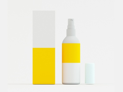 3D Product Bottle with Box