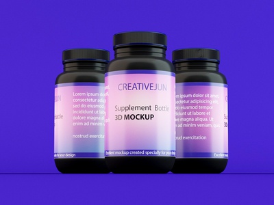 3D Supplement bottle