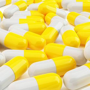 3D yellow Pills medicine medical pills pill branding image 3d product design photoshop 3ds max design dribbble creative flat latest