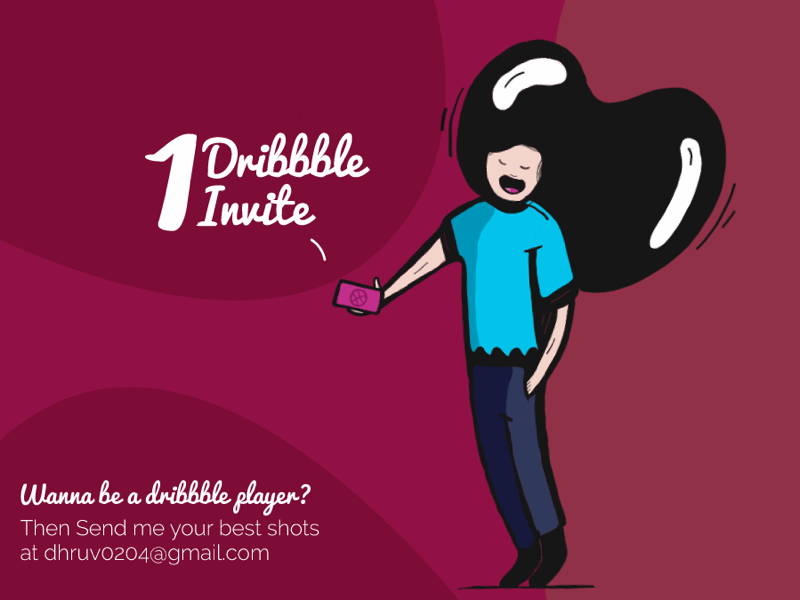 I have 1 Dribbble Invite! graphicdesign character ux ui vector illustration