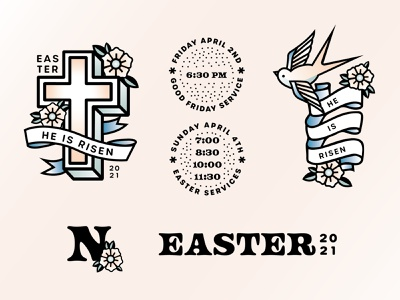 Easter at Northway church tattoo easter design easter church design typography logo design branding design