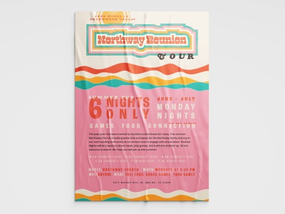 Northway Reunion Tour 2/3 block type wood letter type wood letter vintage type vintage branding event poster music poster poster