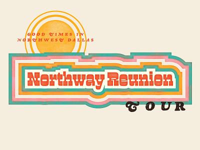 Northway Reunion Tour 3/3 block printing vintage type vintage wood letter church design design branding
