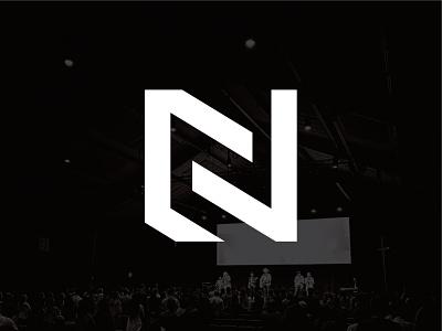Northway Collective Logo icon geometic geometric logo nc logo n logo worship logo church design church lettermark logo design design branding