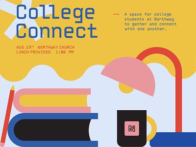 College Connect Event college event college graphic design shapes geometric church design design