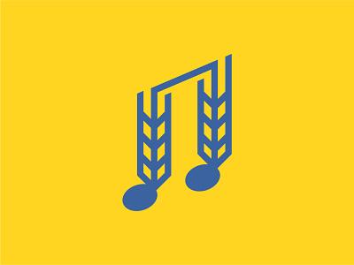 Cruise The Blues Icon logo logo design logo mark music logo wheat logo branding icon vector