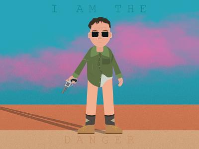 I am the danger - Breaking Bad netflix tv flat animated character illustration vector bryan cranston walter white breaking bad avatar