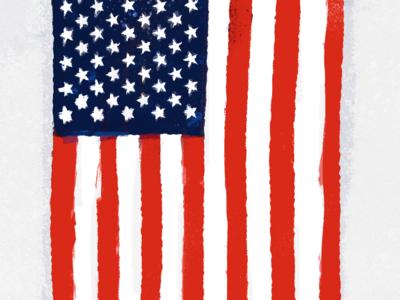 Illustrated USA Flag