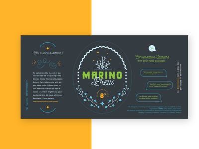 Marino Brew Label app development app design christmas gift software marino tech beer label beer