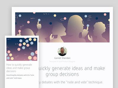Note And Vote software blog illustration
