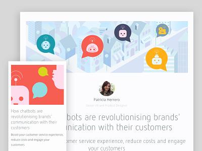 Chatbots blog post product design software customer service ux chatbots