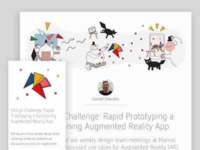Rapid Prototyping a functioning AR APP prototyping prototype app marinosoftware vignette illustration software design ar